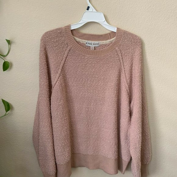 Knox Rose L Sweaters Rose Pink Crew Neck Long Slee